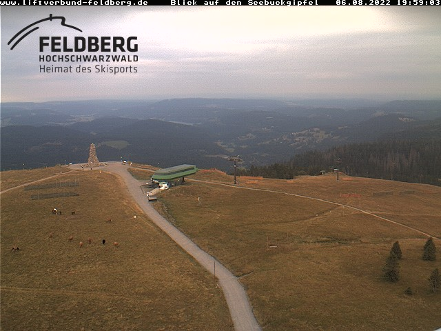 Live-Bild vom Feldberggipfel