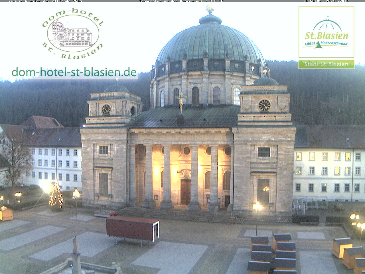 Webcam St. Blasien Domplatz