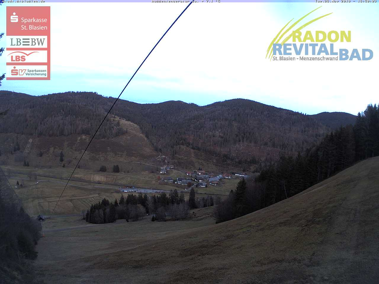 St. Blasien - Blick von der Bergstation Mößle ins Tal
